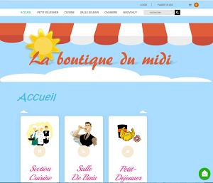 Site de La Boutique du Midi - Février 2018